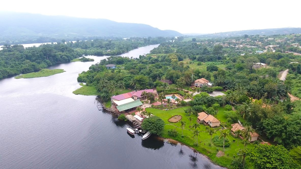 Afrikiko Resort Akosombo - Aerial River View